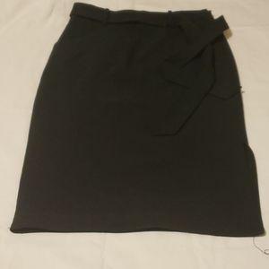 BR Bi-stretch skirt with side slit